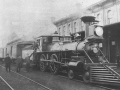 MCR locomotive at the station, 1880s